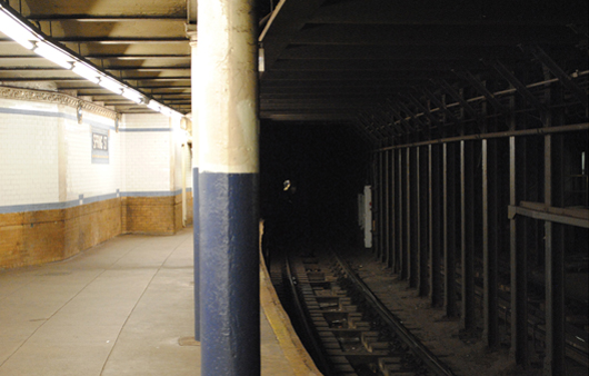 Canal Street Station platform from the Spring Street Station platform